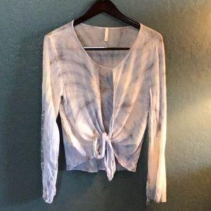 Women's long sleeve shirt.